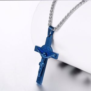 New stainless steel cross crucifix necklace